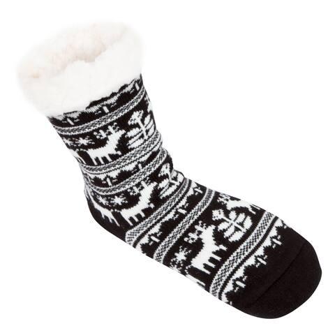 Leisureland Women's Reindeer Slipper Socks