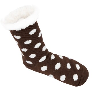 Leisureland Women's Polka Dots Slipper Socks