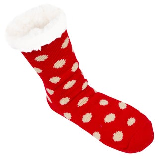 Leisureland Women's Polka Dots Slipper Socks