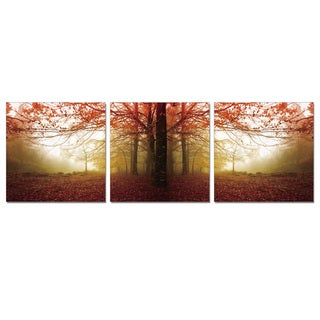 Furinno SENIC Autumn Leaves 3-Panel Acrylic Photography, 60 x 20-in