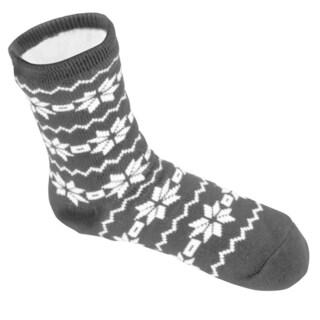 Leisureland Men's Snowflake Slipper Socks