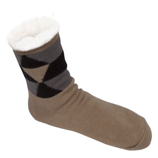 Leisureland Men's Geometric Slipper Socks (Option: Geometric Camel)