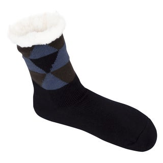 Leisureland Men's Geometric Slipper Socks