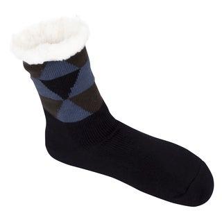 Leisureland Men's Geometric Slipper Socks