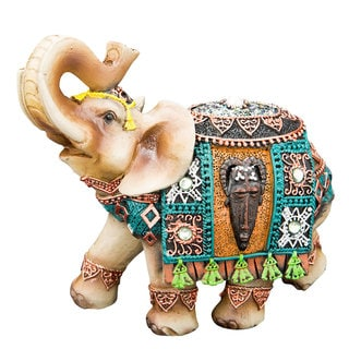 Fabulous Indian Elephant With Colorful Stones and Pearl Applique