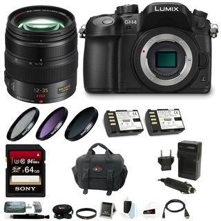 Panasonic LUMIX DMC-GH4K Mirrorless Camera w/ H-HS12035 12-35mm Lens & 64GB SD Card Bundle