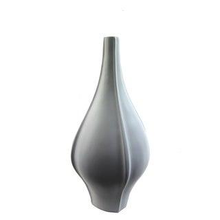FireFly White Ceramic 16-inch Round Vase