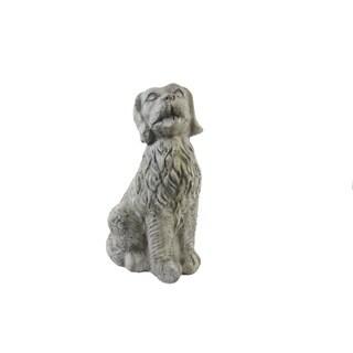 FireFly Grey Terracotta 17-inch Dog Sculpture