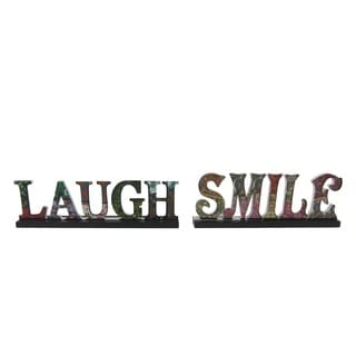 Firefly Laugh Smile Table Top Decor (Set of 2)