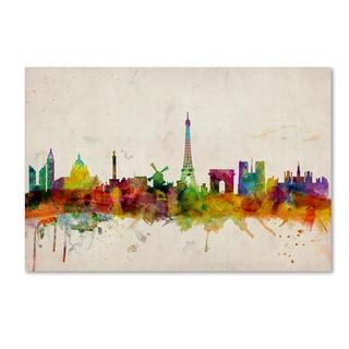 Michael Tompsett 'Paris Skyline' Canvas Art
