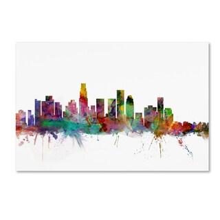 Michael Tompsett 'Los Angeles California Skyline' Canvas Art