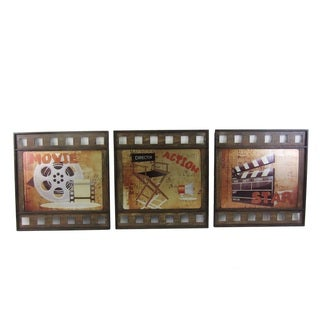 Multicolored Metal 'Movie Action Star' 15 x .5 x 16.75 Wall Decor (Set of 3)