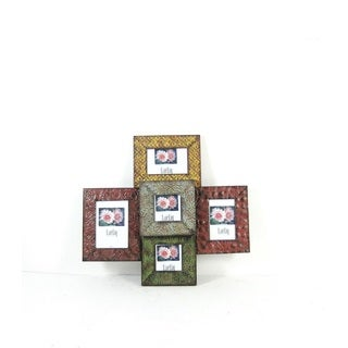 FireFly Multicolored Metal Square Picture Frame Wall Decor