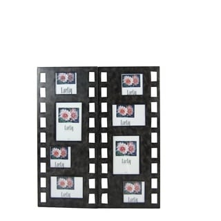 FireFly Squares Picture Insert Black Metal 23.50-inch x 10.25-inch Wall Decor (Set of 2)