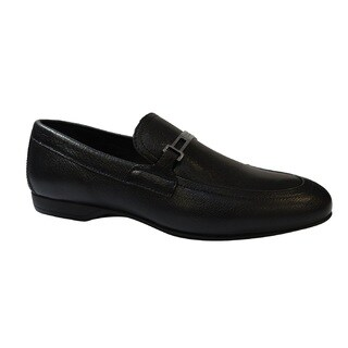 Versace Collection Men's Black Leather Loafers