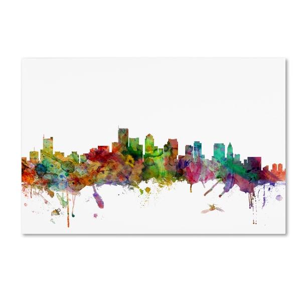 Michael Tompsett 'Boston Massachusetts Skyline' Canvas Art