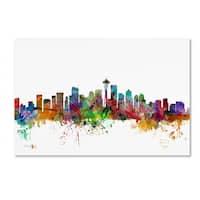 Michael Tompsett 'Seattle Washington Skyline' Canvas Art