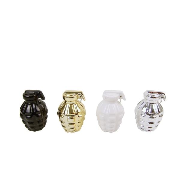FireFly Assorted Ceramic Grenade Banks (Pack of 4)