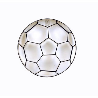 FireFly Black and White Metal 11-inch Soccer Ball Wall Decor