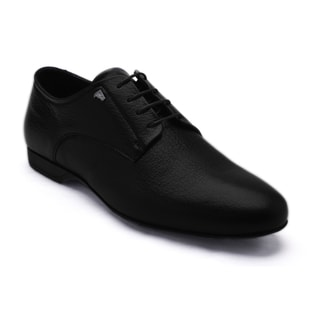 Versace Collection Men's Black Leather Oxford Shoes