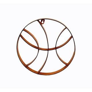 Firefly Orange Metal Basketball 12x1x12 Wall Decor