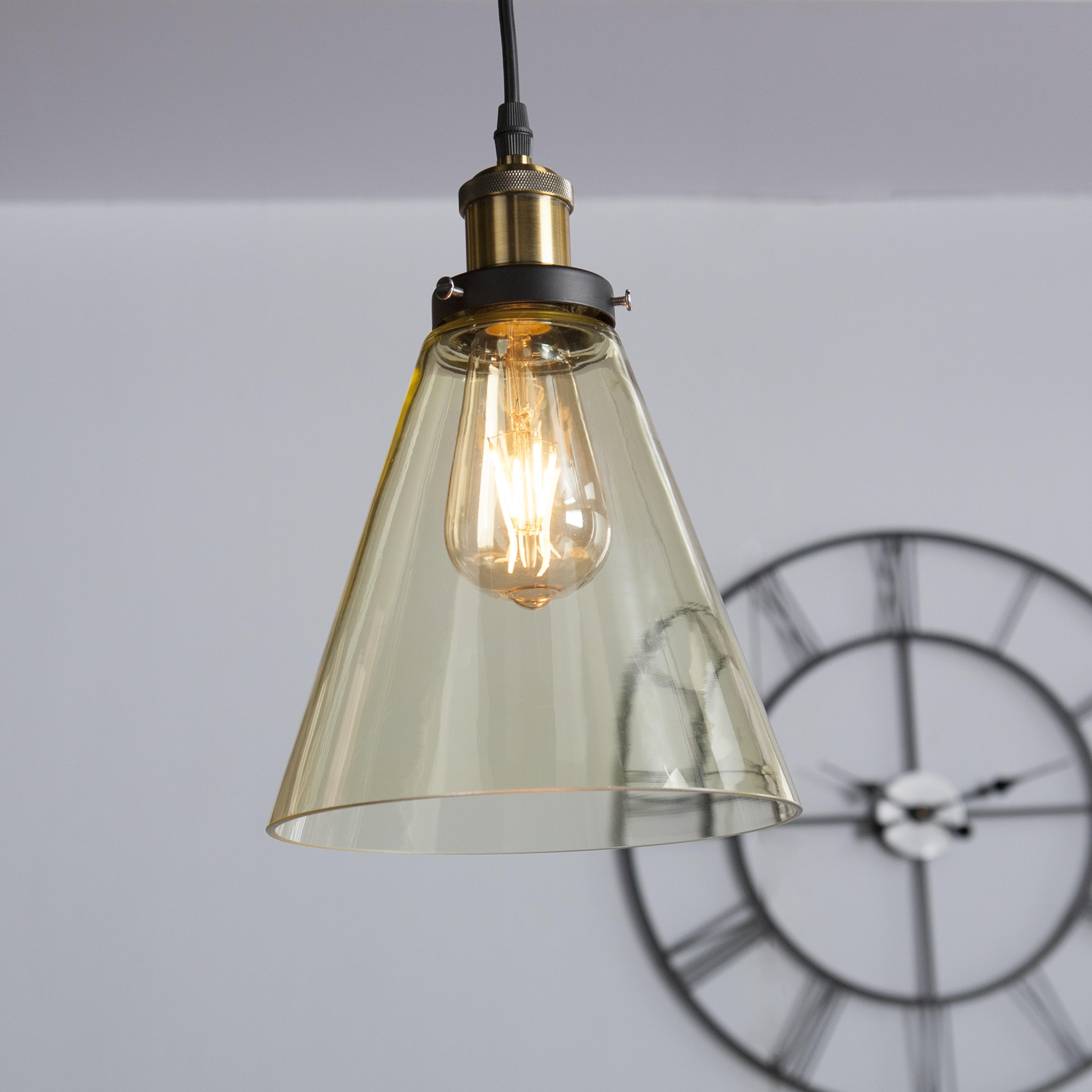 Harper Blvd Tanarus Colored Gl Mini Pendant Lamp Champagne Amber