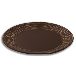 FireFly Palacio Matte Brown White Porcelain 15-inch Decorative Plate