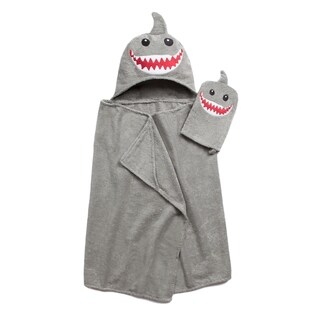 Tub Time for Tots 2-Piece Hooded Bath Wrap in Shark Design