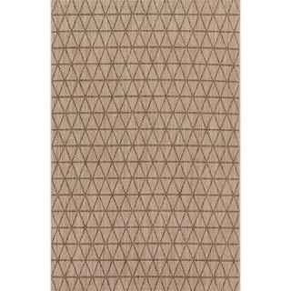 Indoor/ Outdoor Havannah Beige/ Mocha Geometric Rug (2'2 X 3'9)