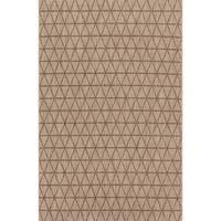 Indoor/ Outdoor Havannah Beige/ Mocha Geometric Rug - 2'2 x 3'9