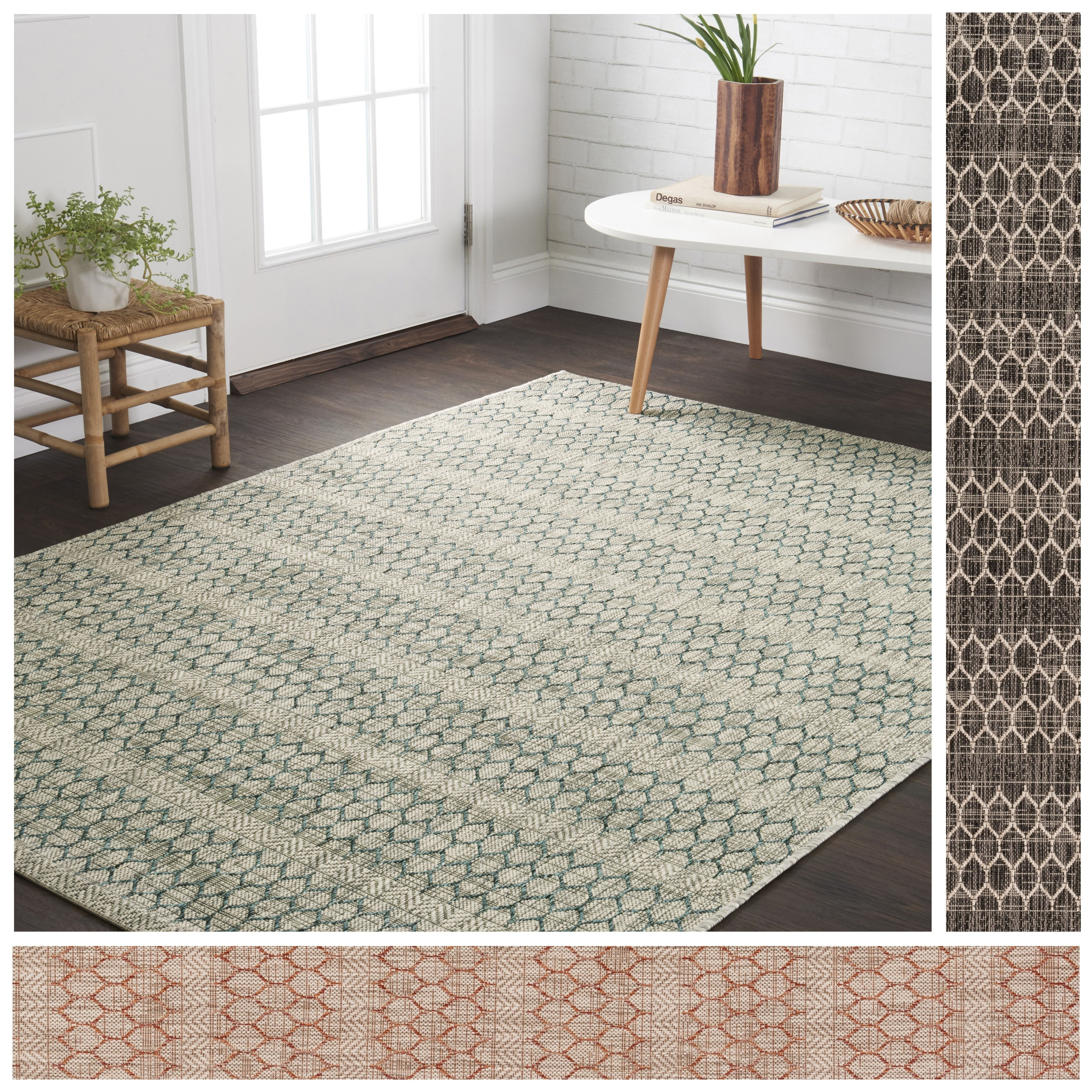 Havenside home wilminton indoor outdoor havannah geometric area rug 710