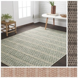 Havenside Home Wilminton Indoor/ Outdoor Geometric Rug (5'3 x 7'7)