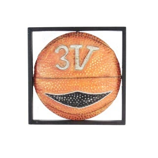 FireFly Multicolor Metal 12-inch Square Basketball Wall Decor