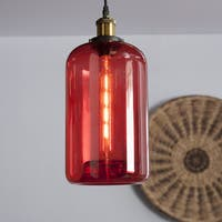 Harper Blvd Coralia Colored Glass Mini Pendant Lamp - Red