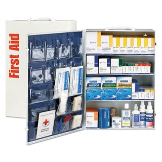 First Aid Only ANSI Class B+ 4 Shelf First Aid Station with Medications, 1437 Pieces