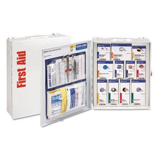 First Aid Only ANSI 2015 SmartCompliance First Aid Station Class A, No Meds,25 People,96 Pieces