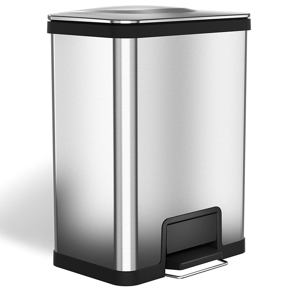 halo airstep 13 gallon kitchen trash can, silent and