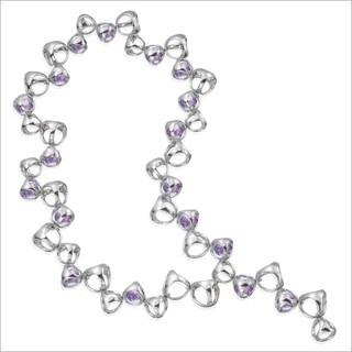 Di Modolo Rhodium-plated Sterling Silver Purple Quartz Icona Necklace