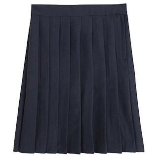 Girl's Solid Polyester School Uniform Skirt