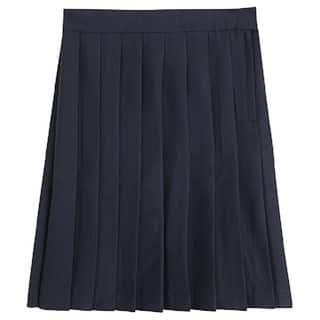 Girl's Solid Polyester School Uniform Skirt|https://ak1.ostkcdn.com/images/products/13549348/P20227884.jpg?impolicy=medium