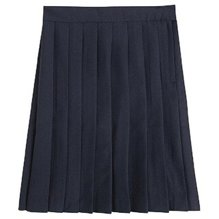 Girl's Solid Polyester School Uniform Skirt