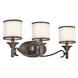 Kichler Lighting Lacey Collection 3-light Mission Bronze Bath/Vanity Light