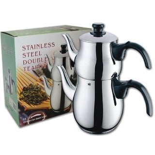 Stainless Steel Double Teapot Tea Kettle