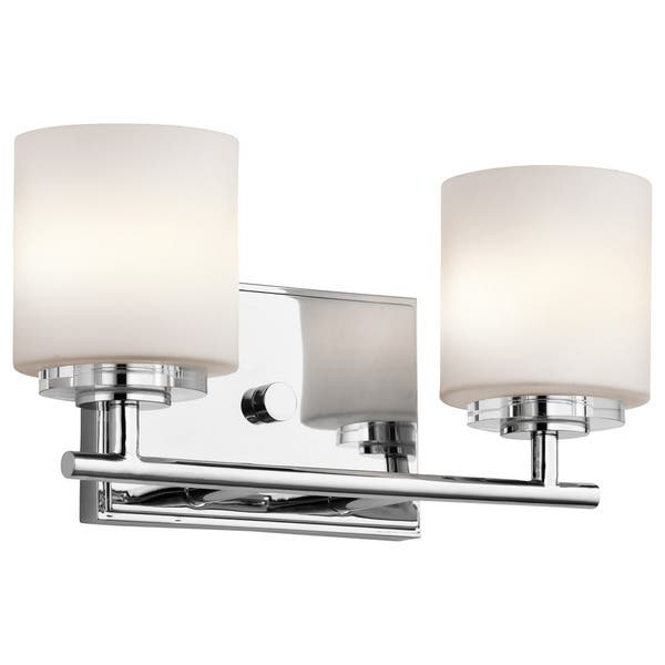 Kichler Lighting O Hara Collection 2 Light Chrome Halogen Bath Vanity Light