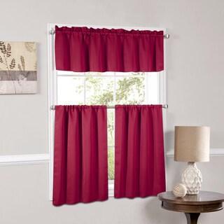 Luxury Light Reducing 3 Piece Window Curtain Tier Set