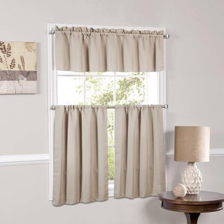 Luxury Light Reducing 3 Piece Window Curtain Tier Set