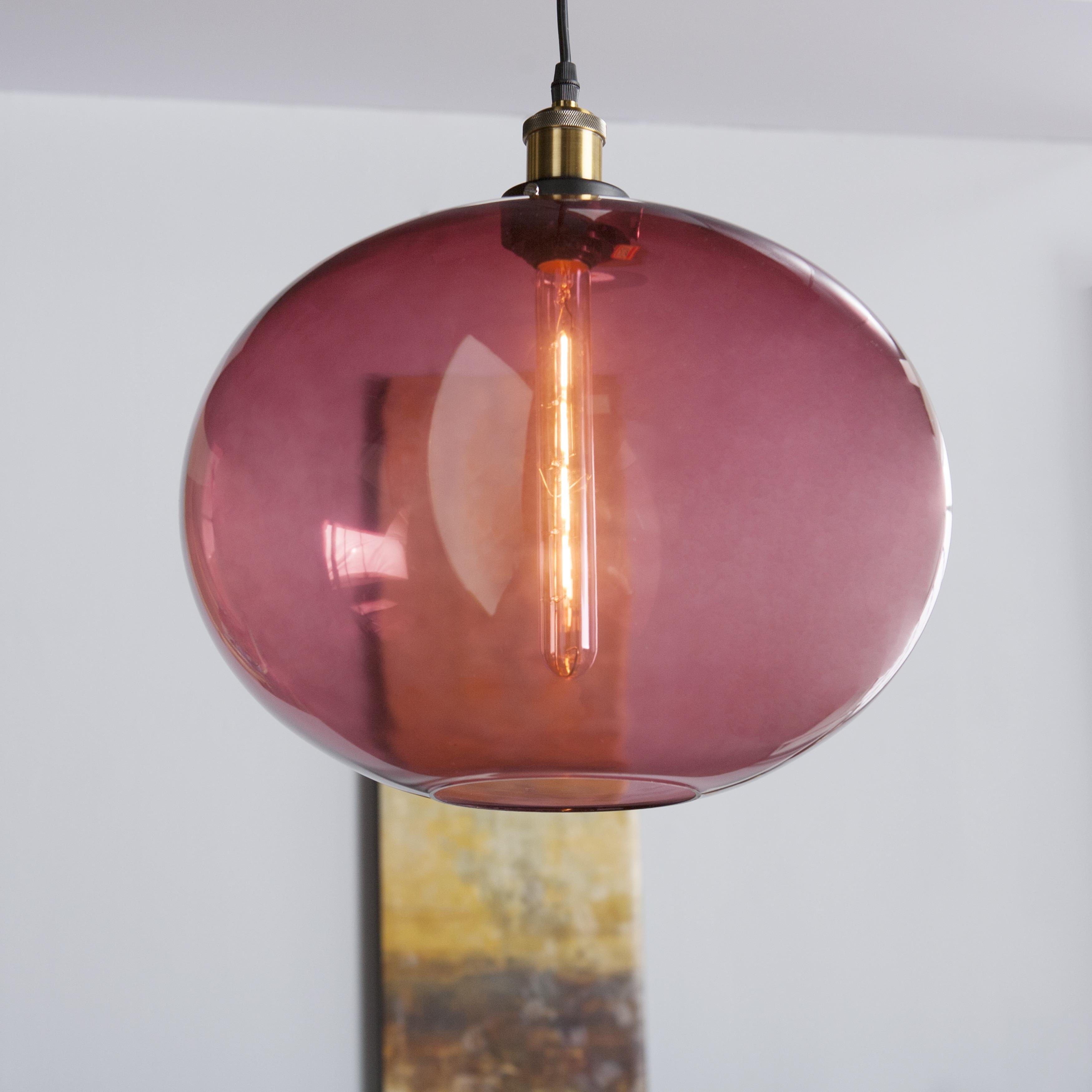 Harper Blvd Mardeau Colored Glass Pendant Lamp - Magenta ...