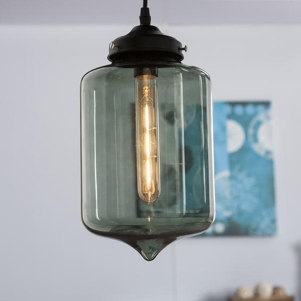 Shop harper blvd sandemose colored glass pendant lamp smoky green harper blvd sandemose colored glass pendant lamp smoky green aloadofball Images