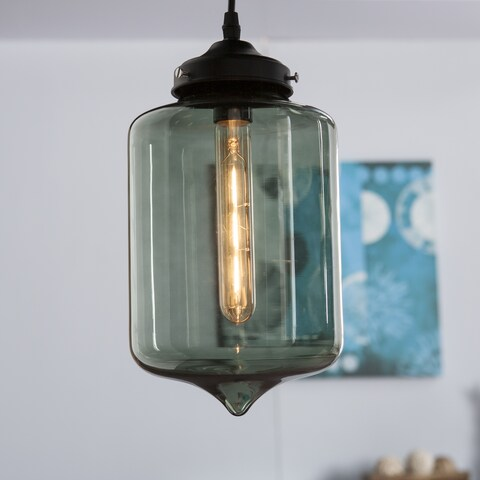 Harper Blvd Sandemose Colored Glass Pendant Lamp - Smoky Green