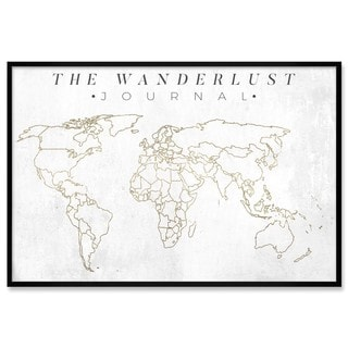 "Oliver Gal ""The Wanderlust Journal"" Framed Whiteboard"